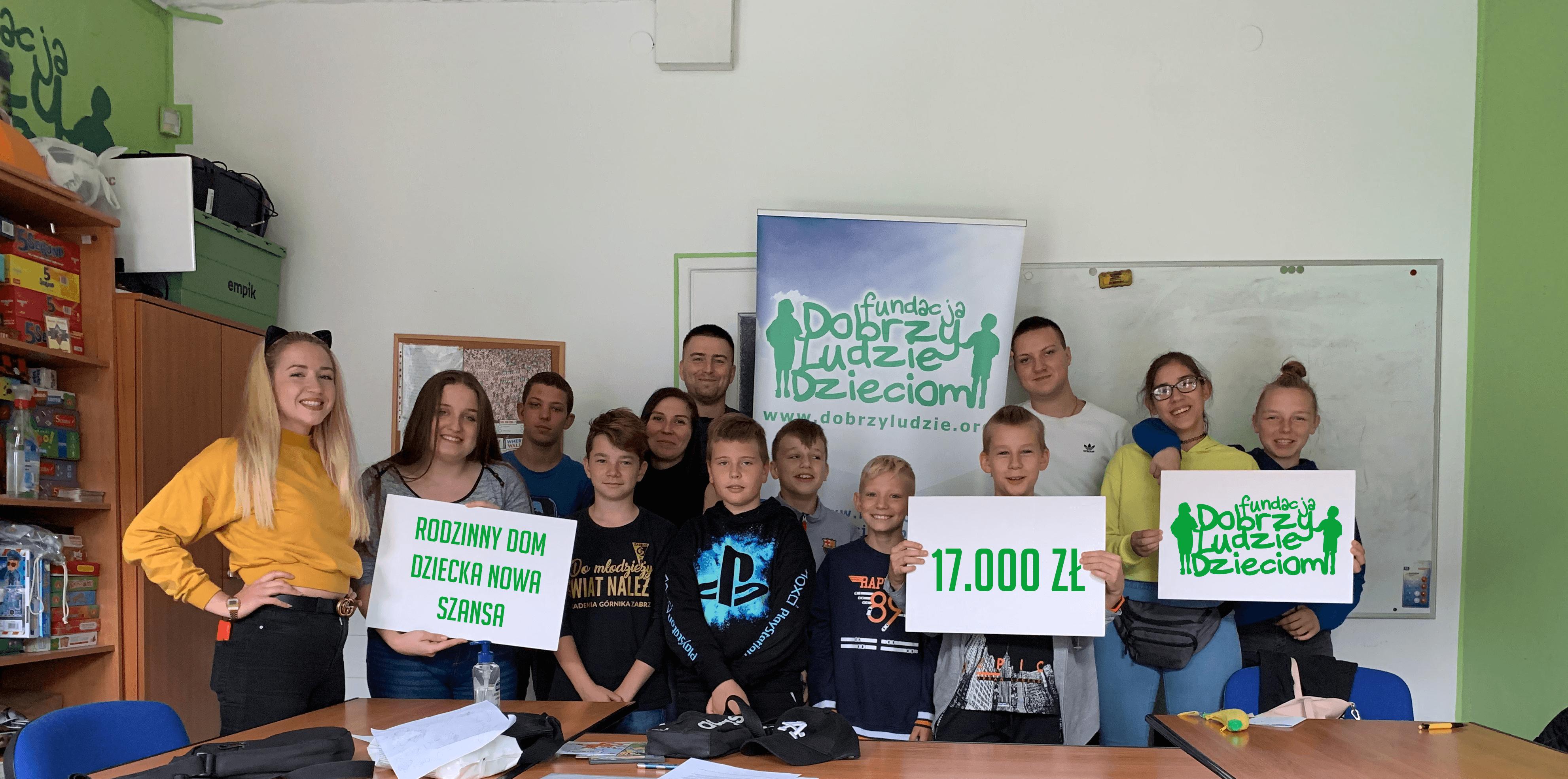 17.000 tysięcy dla Rodzinnego Domu Dziecka – Nowa Szansa